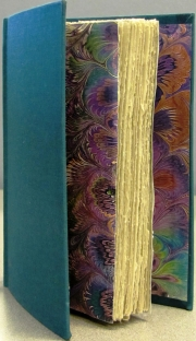 Casebound with Marbled End Papers