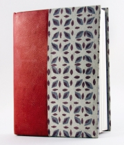 Case Bound with Leather and Handmade Paper Cover