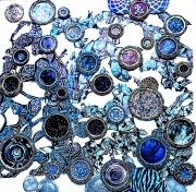 Bits & Pieces-Blue-on-Blue