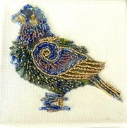 Bead Embroidery - Bird-02