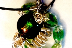 Bead and Wire Pendant
