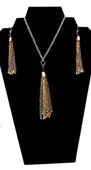 Necklace:Earring Set Tassels 01