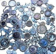 Framed - Blue on Blue