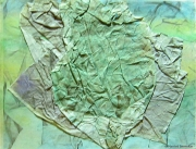 Crushed Paper - Green Forrest Surface