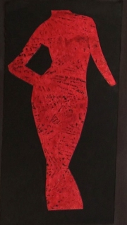 Person Print - Red Lady in Sheath