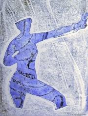 Blue Man Marching 01