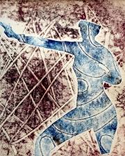 Blue Man Marching 03