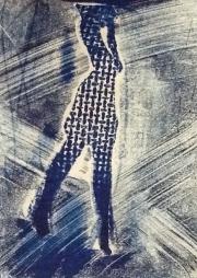 Lady Blue Walking